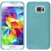 Silikon Hülle Galaxy S6 transparent türkis + 2 Schutzfolien