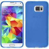Silikon Hülle Galaxy S6 X-Style blau + 2 Schutzfolien