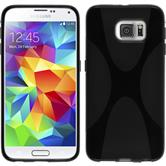 Silikon Hülle Galaxy S6 X-Style schwarz Case