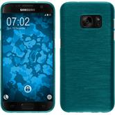Silikon Hülle Galaxy S7 brushed blau