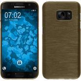 Silikon Hülle Galaxy S7 brushed gold