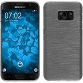 Silikonhülle für Samsung Galaxy S7 brushed weiß