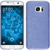 Silikon Hülle Galaxy S7 Edge brushed lila Case