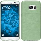 Silikon Hülle Galaxy S7 Edge brushed grün Case