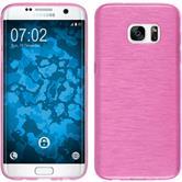 Silikon Hülle Galaxy S7 Edge brushed pink Case