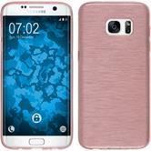 Silikon Hülle Galaxy S7 Edge brushed rosa Case