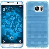 Silikon Hülle Galaxy S7 Edge Iced hellblau