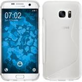Silikonhülle für Samsung Galaxy S7 Edge S-Style clear