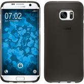Silikon Hülle Galaxy S7 Edge transparent schwarz