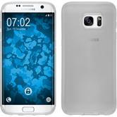 Silikon Hülle Galaxy S7 Edge transparent weiß