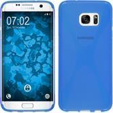Silikon Hülle Galaxy S7 Edge X-Style blau Case