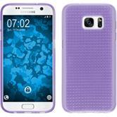 Silikon Hülle Galaxy S7 Iced lila