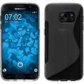 Silikon Hülle Galaxy S7 S-Style grau