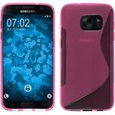 Silikon Hülle Galaxy S7 S-Style pink