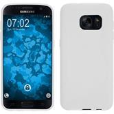 Silikon Hülle Galaxy S7 S-Style weiß