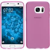 Silikon Hülle Galaxy S7 transparent rosa