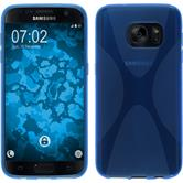 Silikon Hülle Galaxy S7 X-Style blau