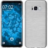 Silikon Hülle Galaxy S8 brushed weiß + flexible Folie