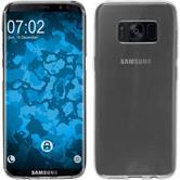 Silikon Hülle Galaxy S8 transparent Crystal Clear + flexible Folie
