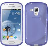 Silicone Case for Samsung Galaxy S Duos S-Style purple