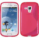 Silicone Case for Samsung Galaxy S Duos S-Style hot pink
