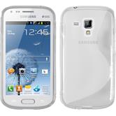 Silicone Case for Samsung Galaxy S Duos S-Style transparent