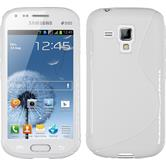 Silicone Case for Samsung Galaxy S Duos S-Style white