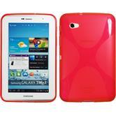 Silikon Hülle Galaxy Tab 2 7.0 X-Style rot