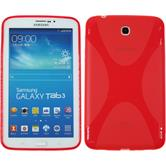 Silicone Case for Samsung Galaxy Tab 3 7.0 X-Style red