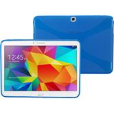 Silikon Hülle Galaxy Tab 4 10.1 X-Style blau