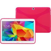 Silicone Case for Samsung Galaxy Tab 4 10.1 X-Style hot pink