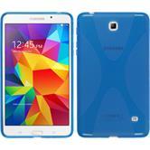 Silikon Hülle Galaxy Tab 4 7.0 X-Style blau + 2 Schutzfolien