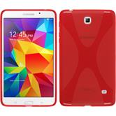 Silicone Case for Samsung Galaxy Tab 4 7.0 X-Style red