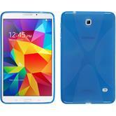 Silikon Hülle Galaxy Tab 4 8.0 X-Style blau