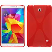 Silicone Case for Samsung Galaxy Tab 4 8.0 X-Style red
