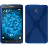 Silikon Hülle Galaxy Tab A 7.0 2016 (T280) X-Style blau + 2 Schutzfolien