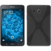 Silikon Hülle Galaxy Tab A 7.0 2016 (T280) X-Style grau + 2 Schutzfolien