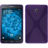 Silikon Hülle Galaxy Tab A 7.0 2016 (T280) X-Style lila + 2 Schutzfolien