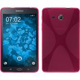 Silikon Hülle Galaxy Tab A 7.0 2016 (T280) X-Style pink + 2 Schutzfolien