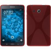 Silikon Hülle Galaxy Tab A 7.0 2016 (T280) X-Style rot + 2 Schutzfolien