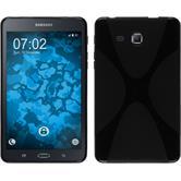 Silikon Hülle Galaxy Tab A 7.0 2016 (T280) X-Style schwarz + 2 Schutzfolien