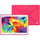 Silikon Hülle Galaxy Tab S 10.5 X-Style pink + 2 Schutzfolien