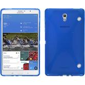 Silikon Hülle Galaxy Tab S 8.4 X-Style blau + 2 Schutzfolien