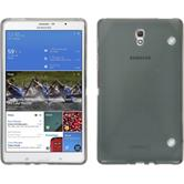 Silikon Hülle Galaxy Tab S 8.4 X-Style grau + 2 Schutzfolien