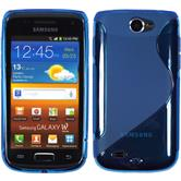 Silicone Case for Samsung Galaxy W S-Style blue