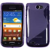 Silicone Case for Samsung Galaxy W S-Style purple