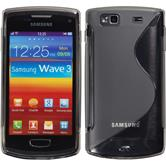 Silicone Case for Samsung Galaxy Wave 3 S-Style gray