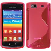 Silicone Case for Samsung Galaxy Wave 3 S-Style hot pink