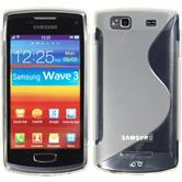 Silicone Case for Samsung Galaxy Wave 3 S-Style transparent