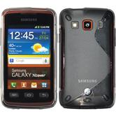 Silikon Hülle Galaxy Xcover S-Style grau